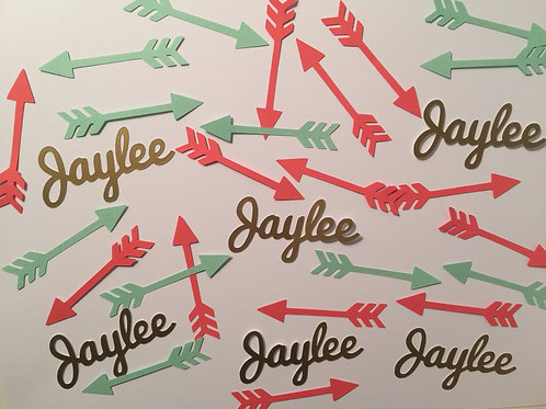 Name and Arrows Confetti