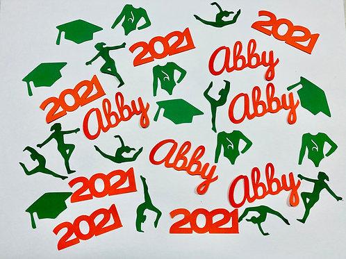 Gymnastics Graduation Confetti