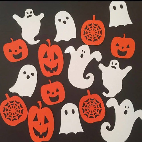 Ghosts and Pumpkins Halloween Confetti