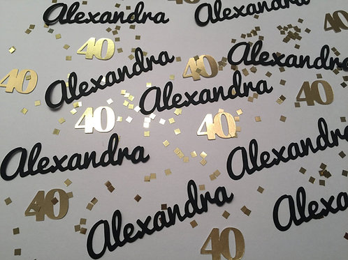 Personalized Name and Number Confetti