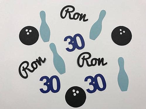 Bowling Theme Birthday Confetti