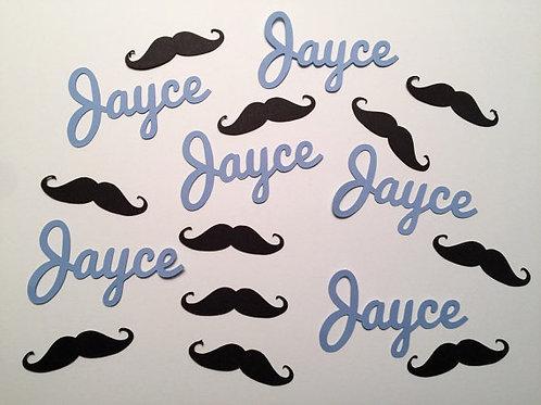 Personalized Mustache Confetti