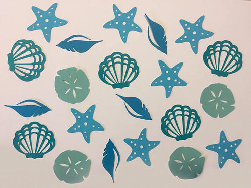 Seashell, Sandollar and Starfish Beach Party Confetti