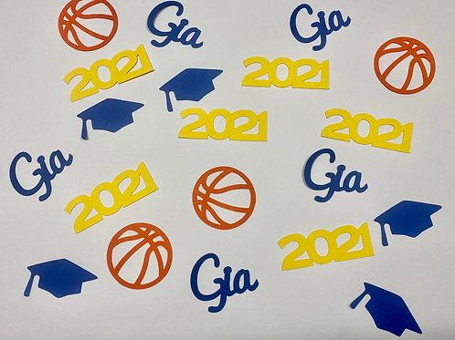 Basketball Graduation Confetti