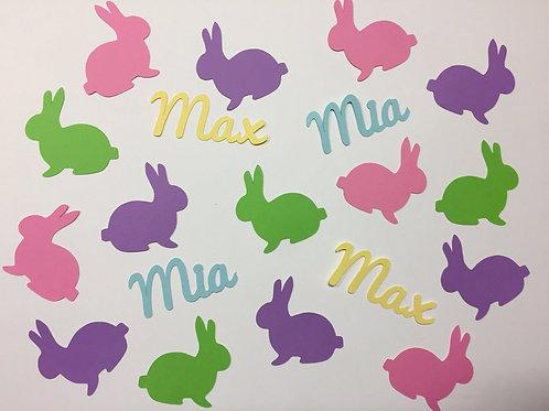 Personalized Bunny Confetti