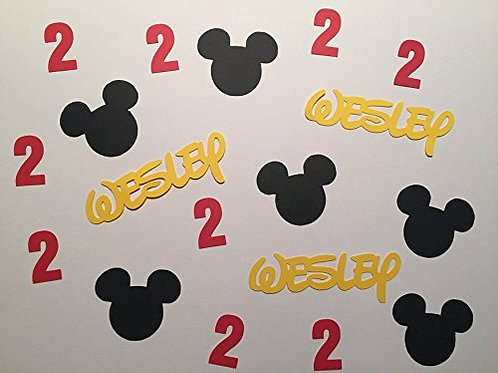 Personalized Mickey Birthday Confetti