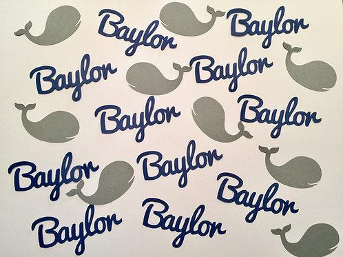 Custom Whale Confetti