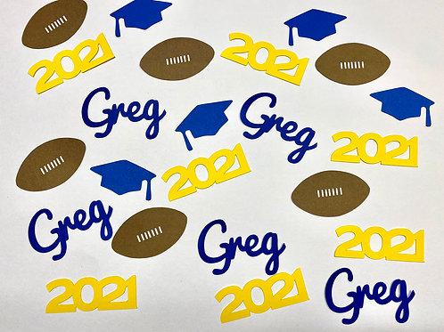 Football Graduation Confetti