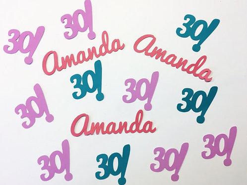 Personalized 30th Birthday Confetti