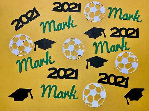 Soccer Graduation Confetti