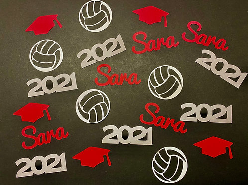 Volleyball Graduation Confetti