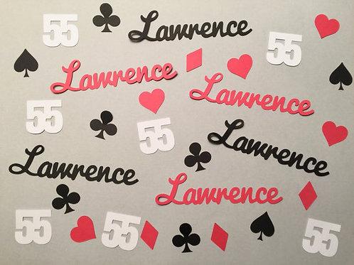 Personalized Casino Party Confetti