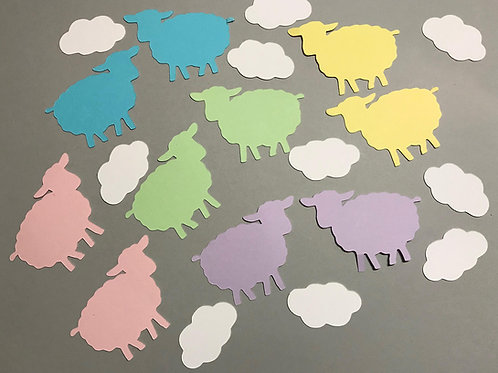 Sheep and Clouds Confetti