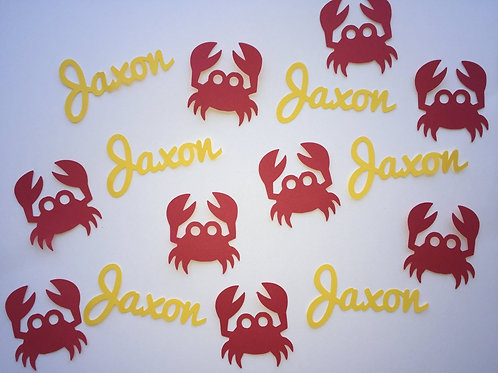 Personalized Crab Confetti