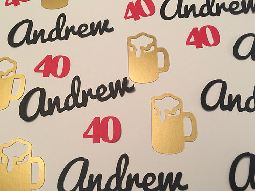Cheers with Beers Personalized Confetti