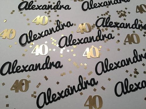 40th Birthday Personalized Confetti