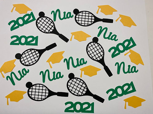 Personalized Tennis Graduation Confetti
