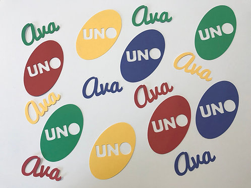 Uno Party First Birthday Confetti