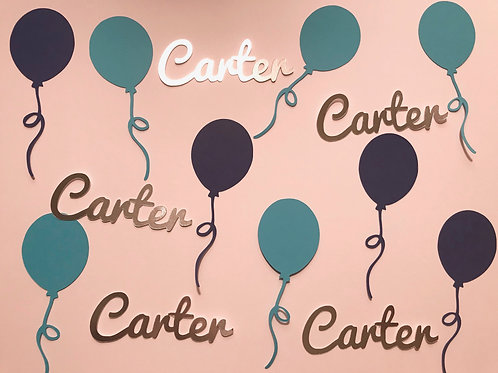 Personalized Birthday Balloon Confetti