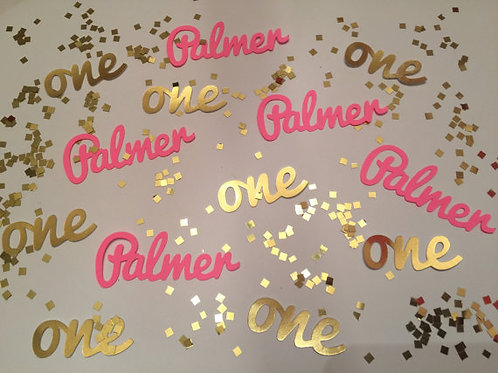 "Personalized First Birthday ""One"" Confetti"
