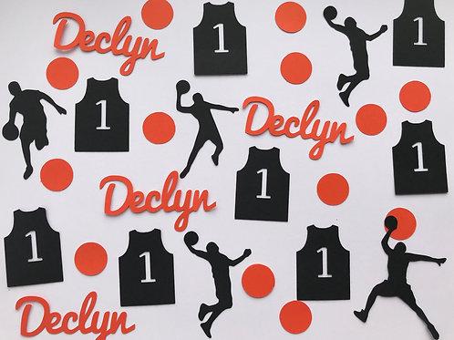 Custom Birthday Basketball Confetti