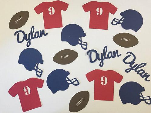 Personalized Football Confetti