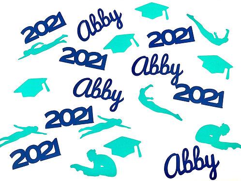Swim & Dive Graduation Confetti