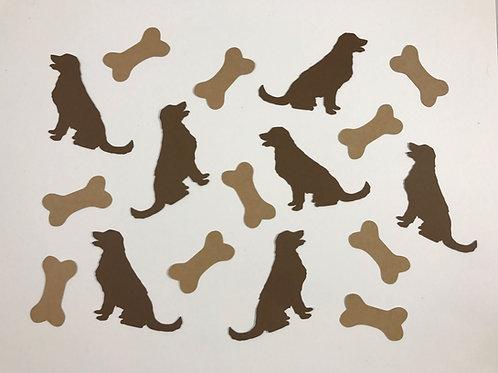 Puppy Dog and Bones Confetti