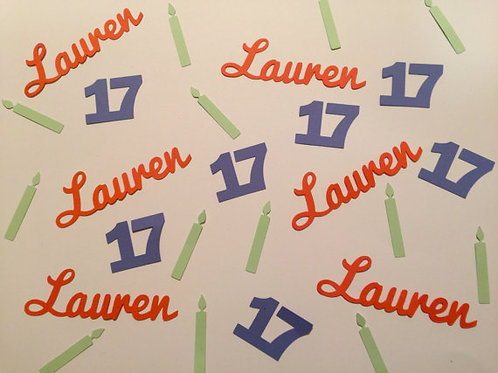Personalized Birthday Candles Confetti