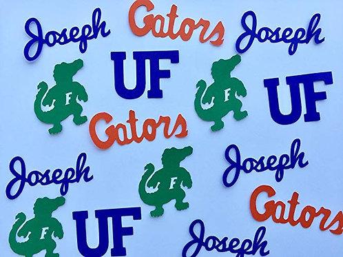 Personalized University of Florida Gators Graduation Custom Confetti