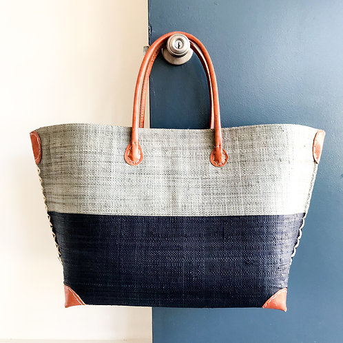 Monterey Bag - Grey/Dark Navy