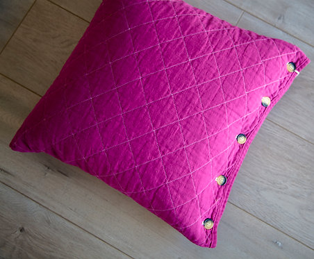 Fuchsia Quilted Pillow Sham