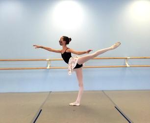 Madeline doing arabesque