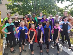 NGSB Company performing as Superheroes in the Heritage Sandy Springs Festival
