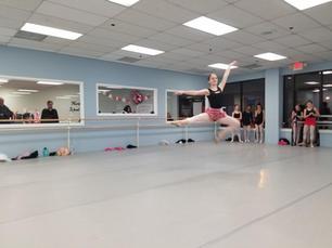 Sophie in ballet class