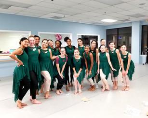 Senior Company preparing to perform in BalletFest