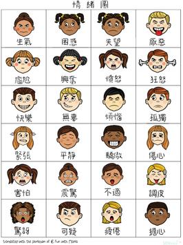 情緒圖😊😡😢😯 (中英文)