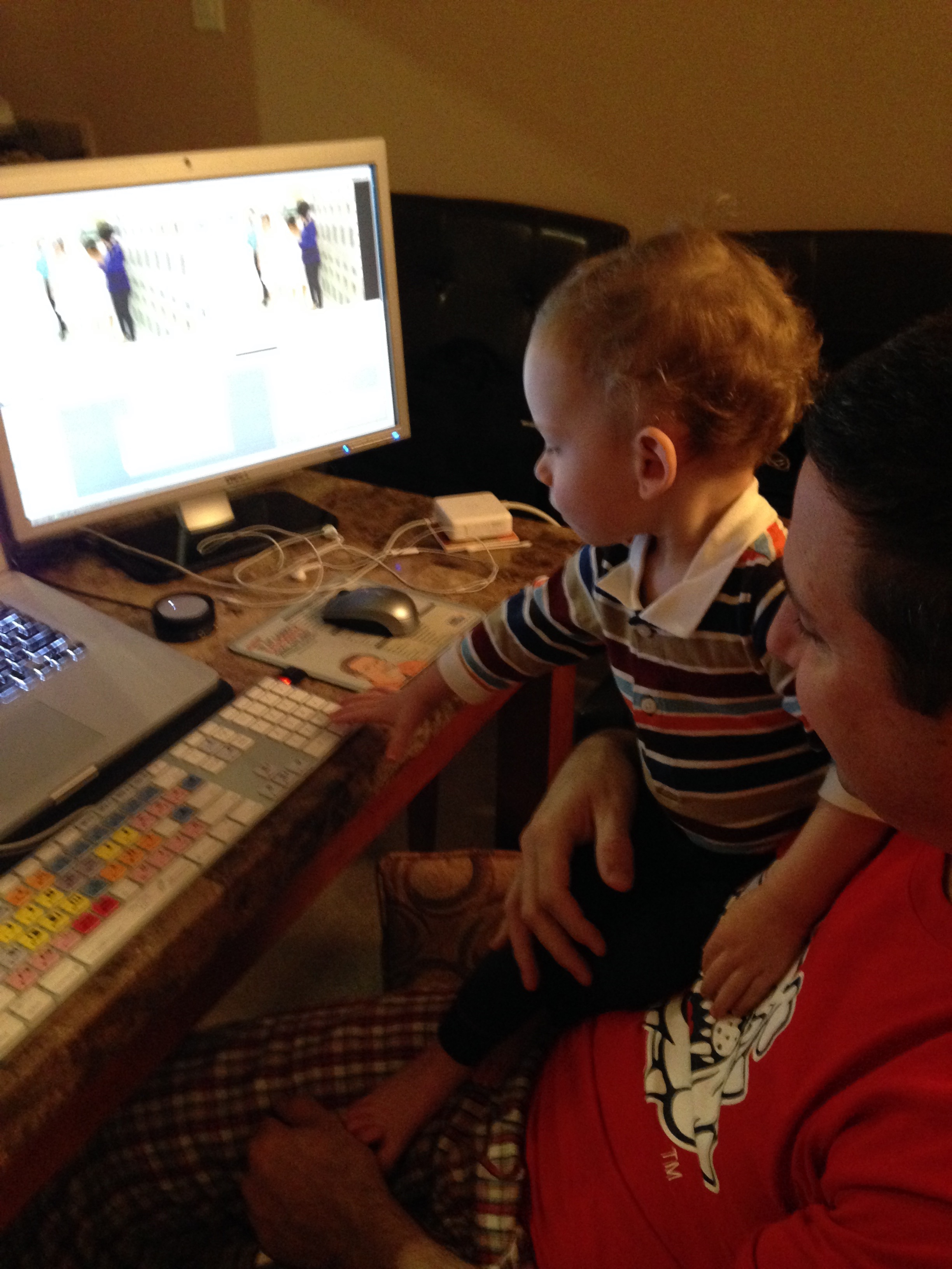 Editing with a 1-year-Old