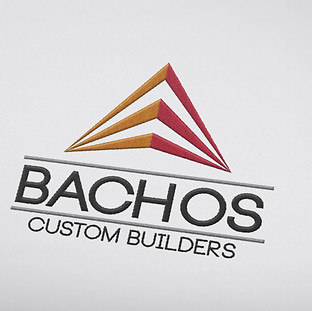 Bachos Custom Builders Logo Design