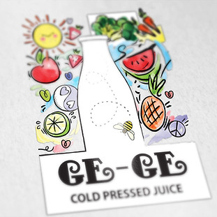 Ge-Ge Juices Logo Design