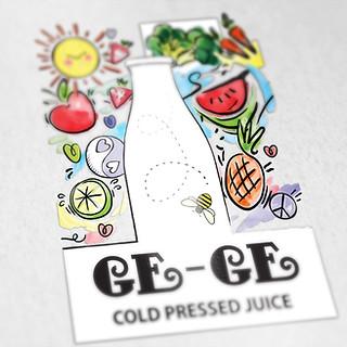 Ge-Ge Juices Logo Design