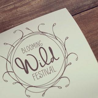 Blooming Wild Flower Festival Logo Design