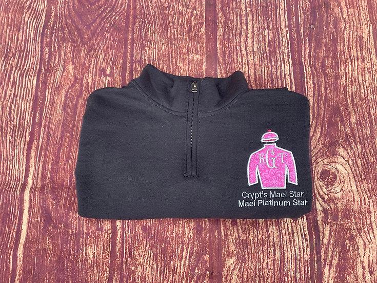 OTTB Jockey Monogram 1/4 ZIP pullover