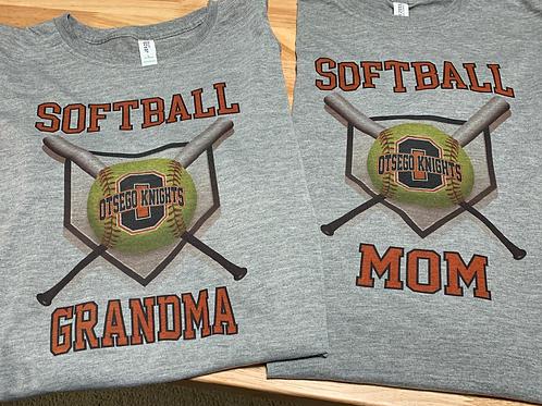 Softball Parent Shirt - Personalized