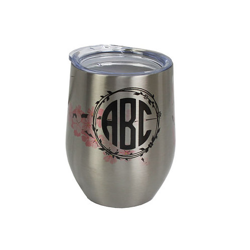 Personalized Stainless Steel Stemless Wine Tumbler - 12oz