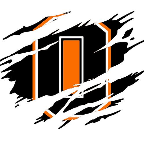 Ripped Logo Dri-Power T-Shirt