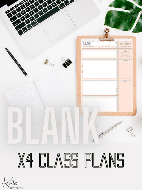 BLANK Class Plans X4