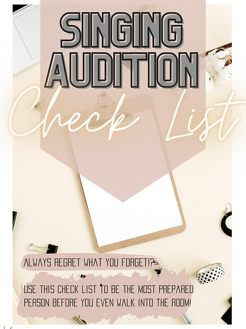 Singing Audition Check Lists