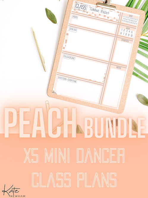 PEACH - Mini Dancer Bundle X5