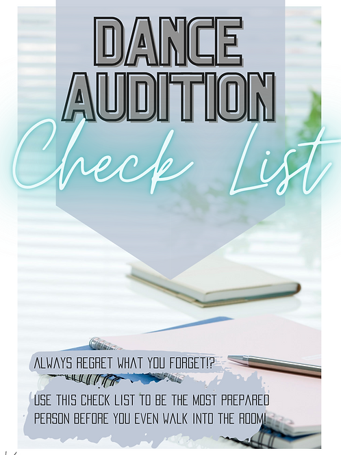 Dance Audition Check Lists